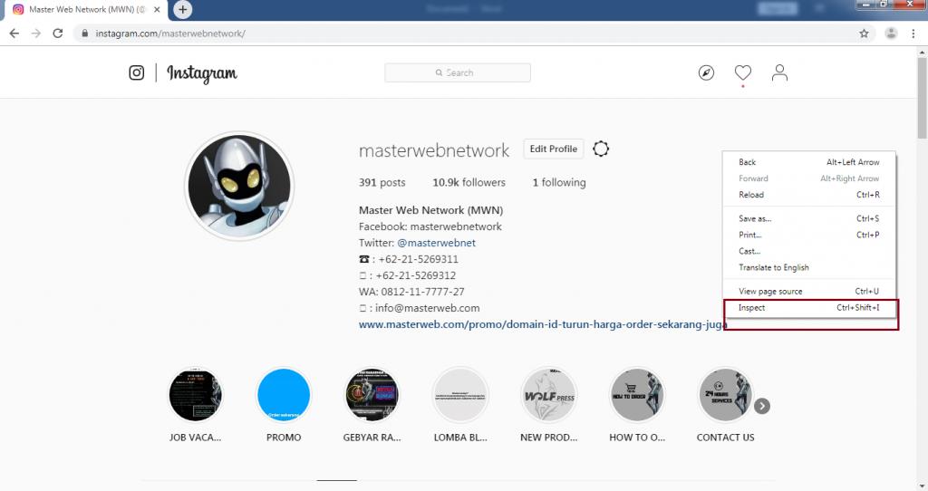 Cara Mudah Upload Foto di Instagram Lewat PC dan Laptop Tanpa Aplikasi 9