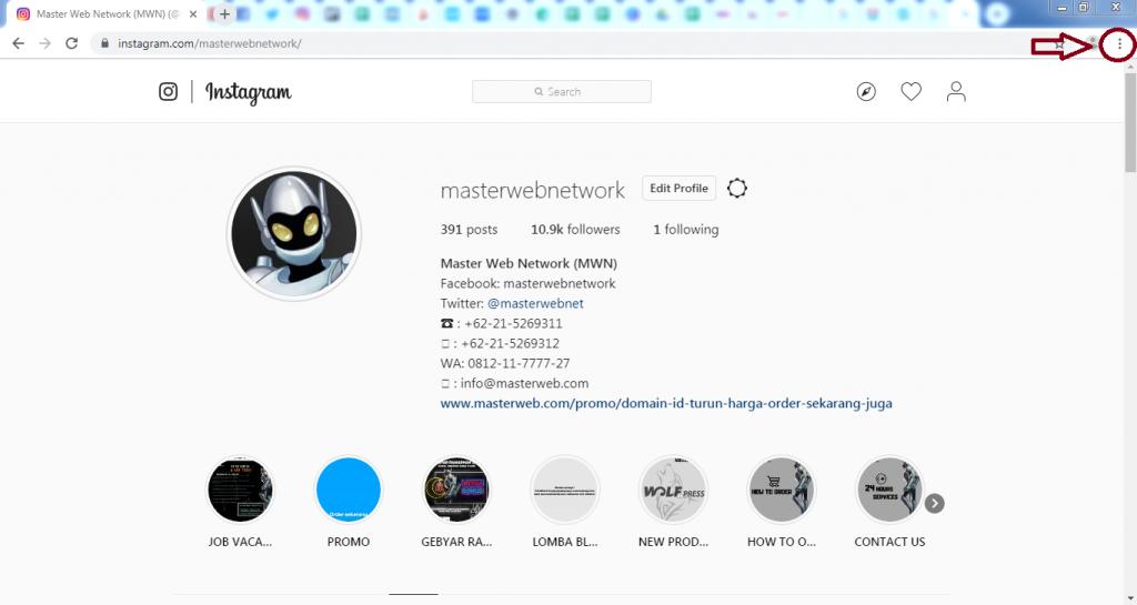 Cara Mudah Upload Foto di Instagram Lewat PC dan Laptop Tanpa Aplikasi 3
