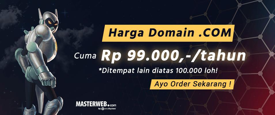 harga domain .com murah