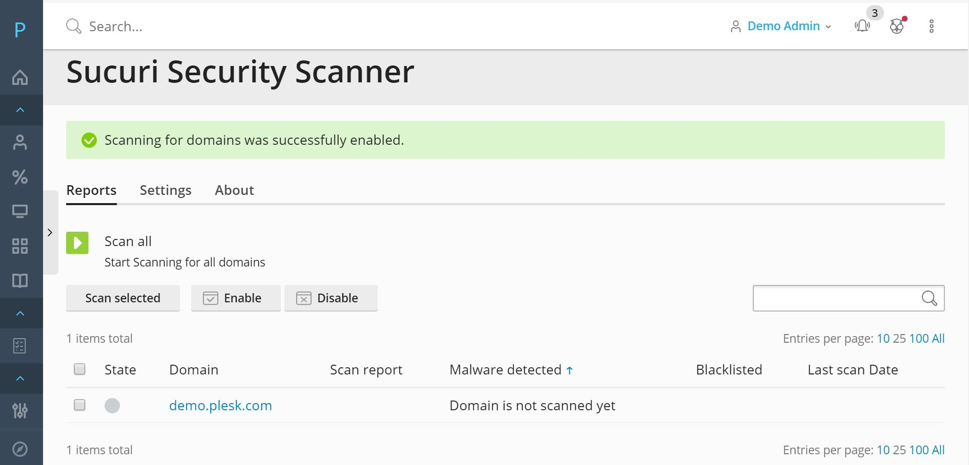 Sucuri Security Scanner